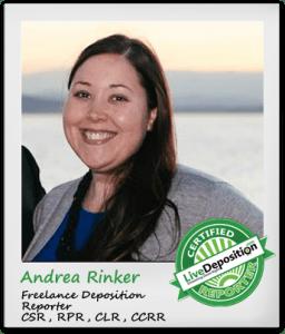 Andrea Rinker, CSR, RPR, CLR, CCRR